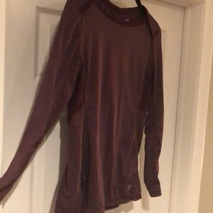Maroon long sleeve workout top